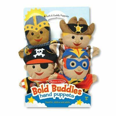 Melissa And Doug; Bold Buddies Hand Puppets