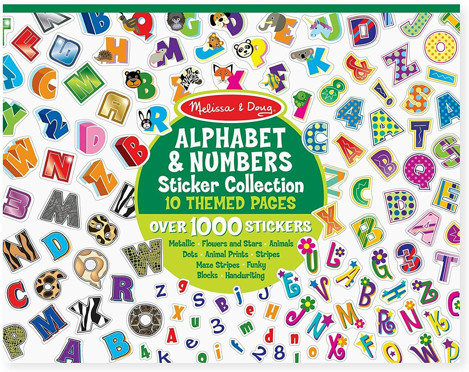 Melissa &Doug Sticker Collection - Alphabet & Numbers
