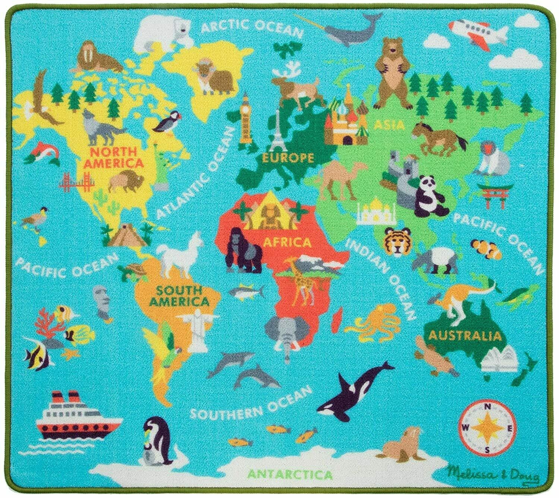 Melissa And Doug; World Map Rug Play Set