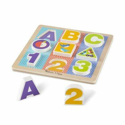 Melissa And Doug; Abc Chunky Puzzle Set