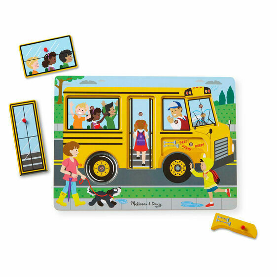 Melissa And Doug; The Wheels On The Bus Sound Puzzle
