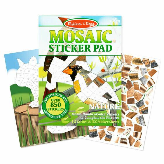 Melissa And Doug; Mosaic Sticker Pad - Nature