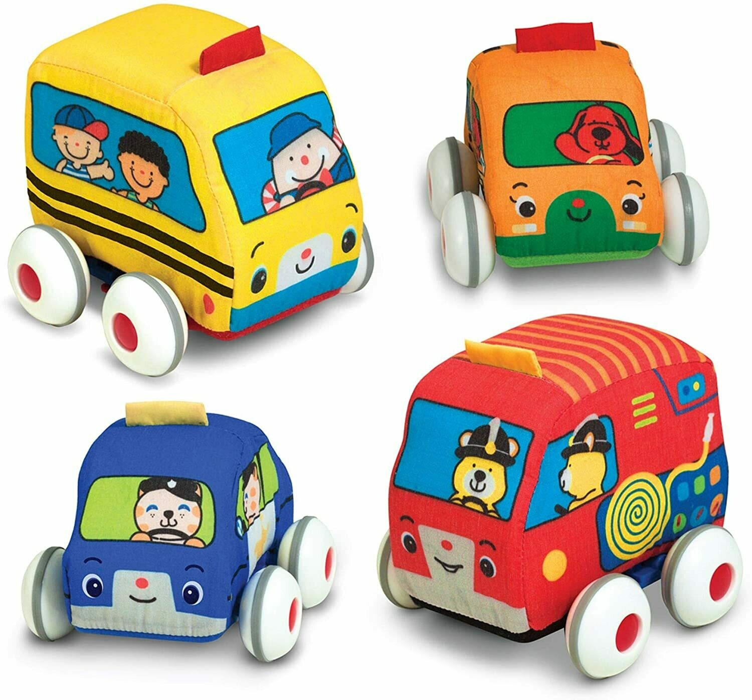 Melissa And Doug; Pull-Back Town Vehicles