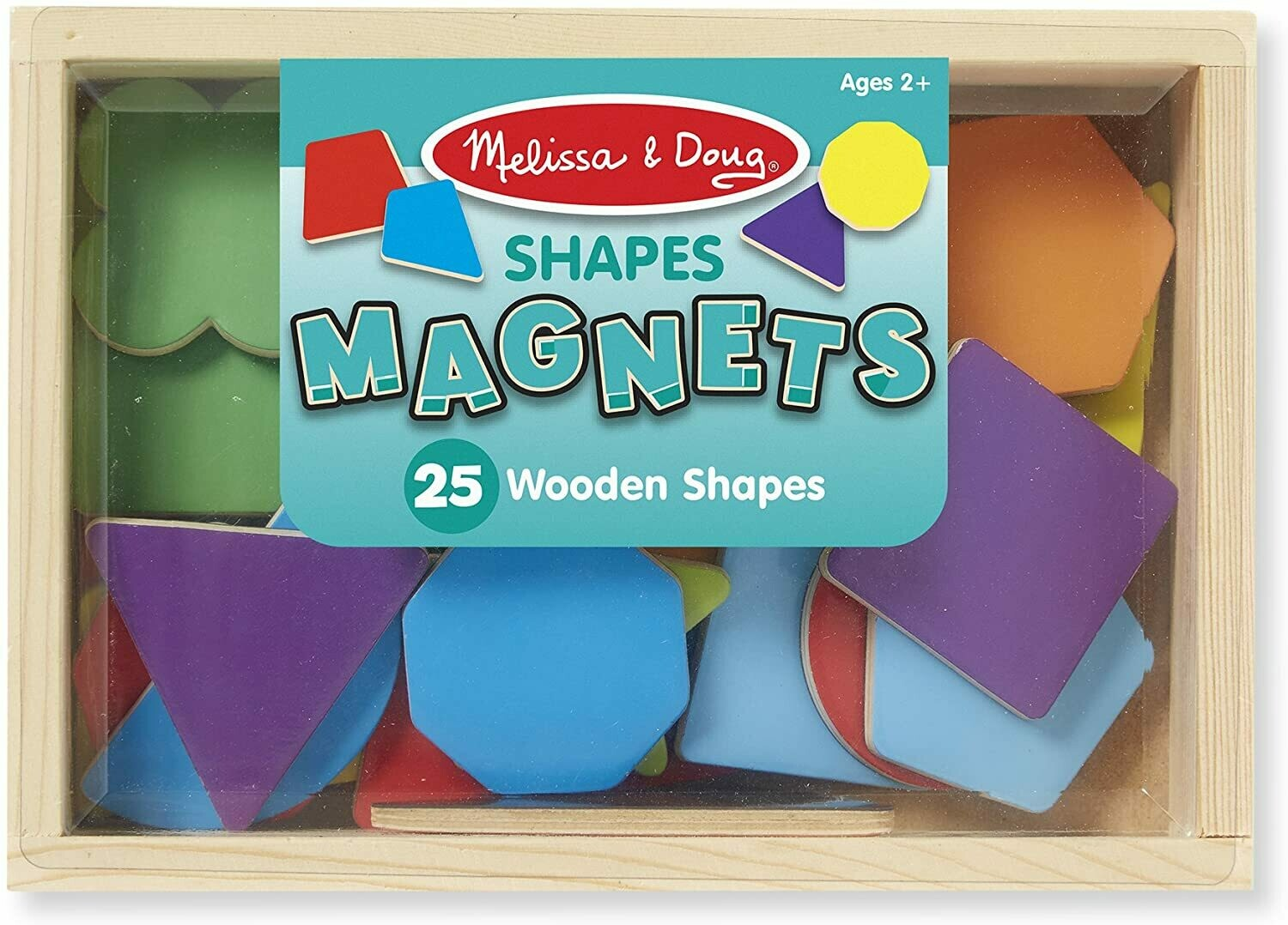 Melissa And Doug; Magnetic Wooden Shapes & Colors