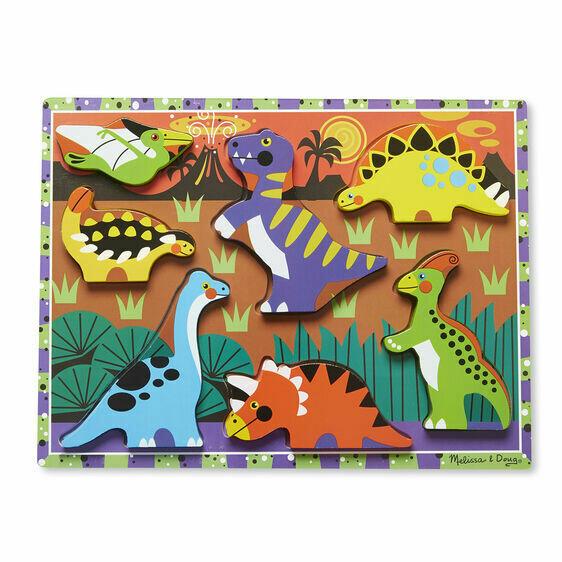 Melissa And Doug; Dinosaurs Chunky Puzzle