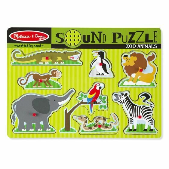 Melissa And Doug; Zoo Animals Sound Puzzle
