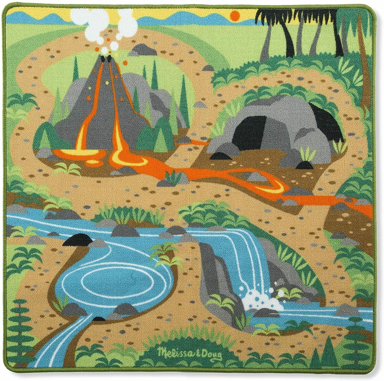 Melissa And Doug; Prehistoric Playground Dinosaur Rug