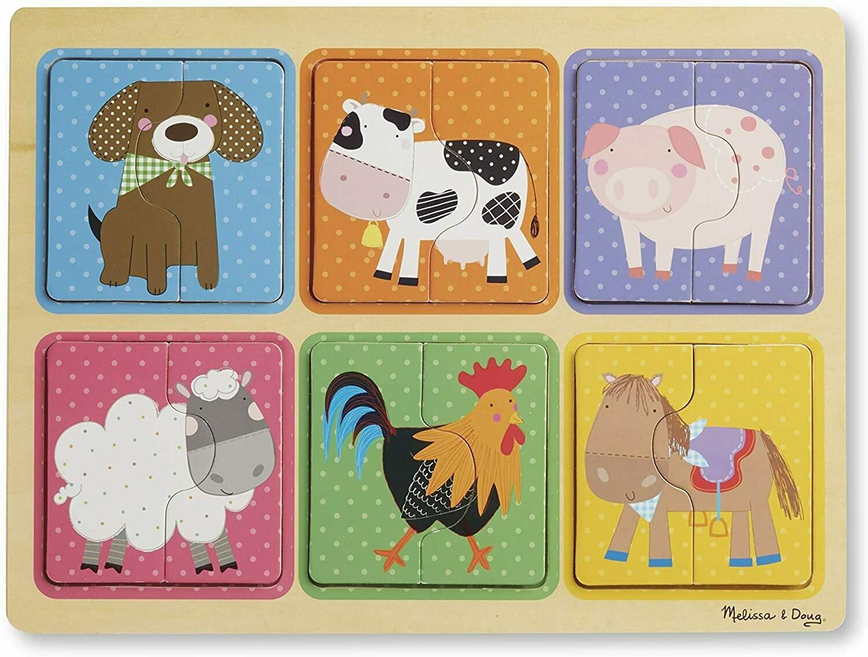 Melissa And Doug; Np Wooden Puzzle: Farm Friends
