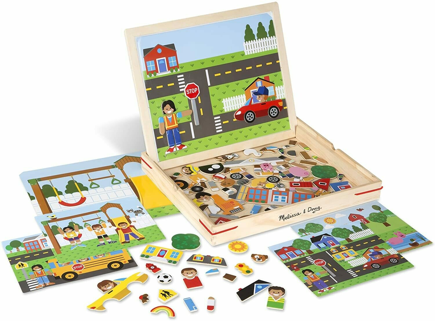 Estes; Wooden Magnetic Matching Picture Game