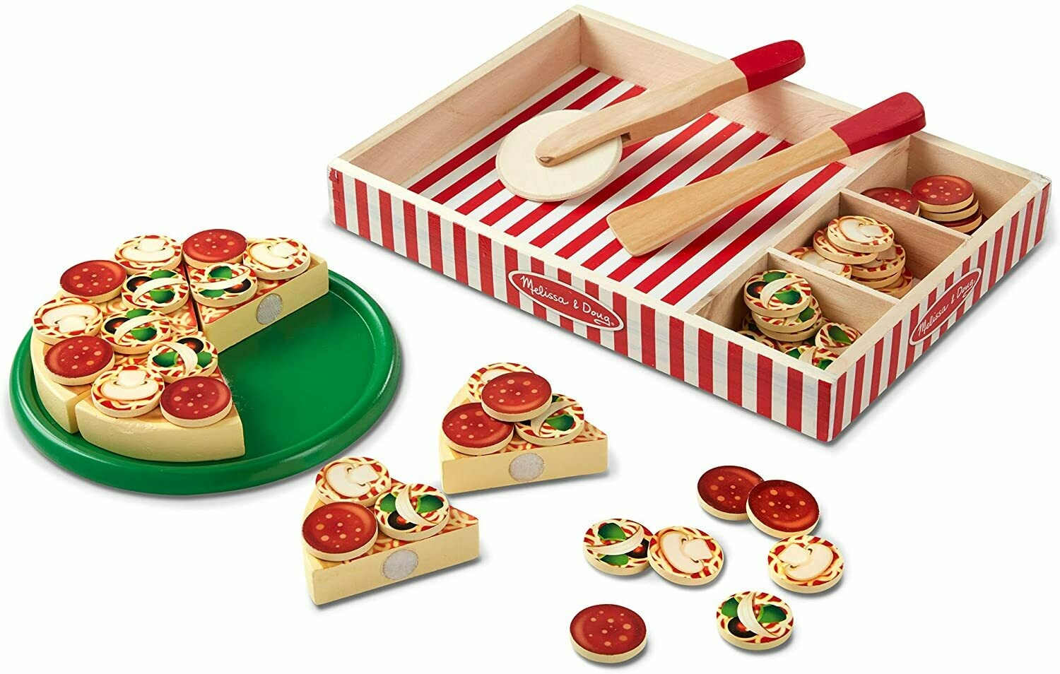 Melissa And Doug; Wooden Pizza