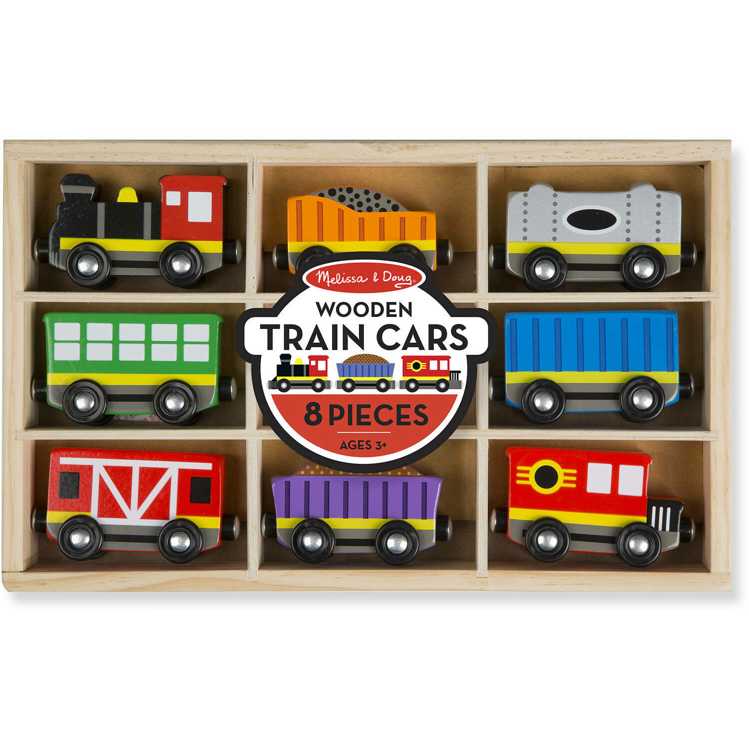 Melissa And Doug; Wooden Train Cars