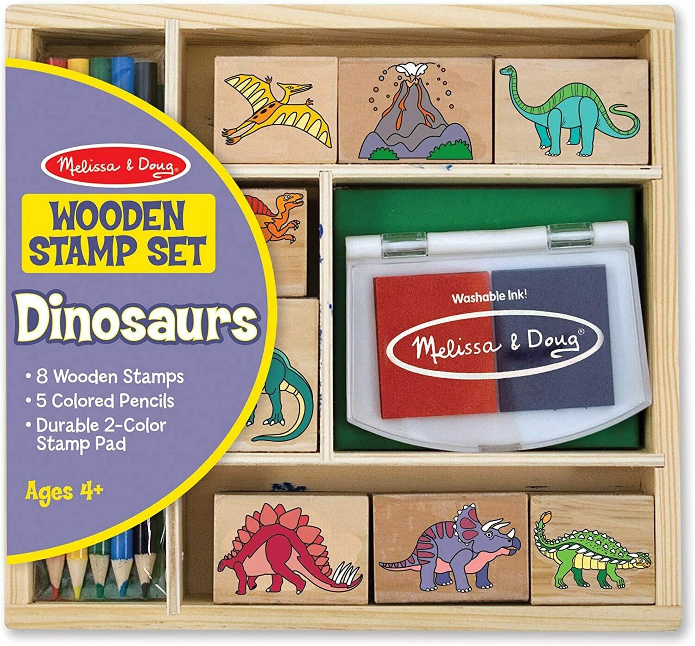 Melissa And Doug; Dinosaur Stamp Set