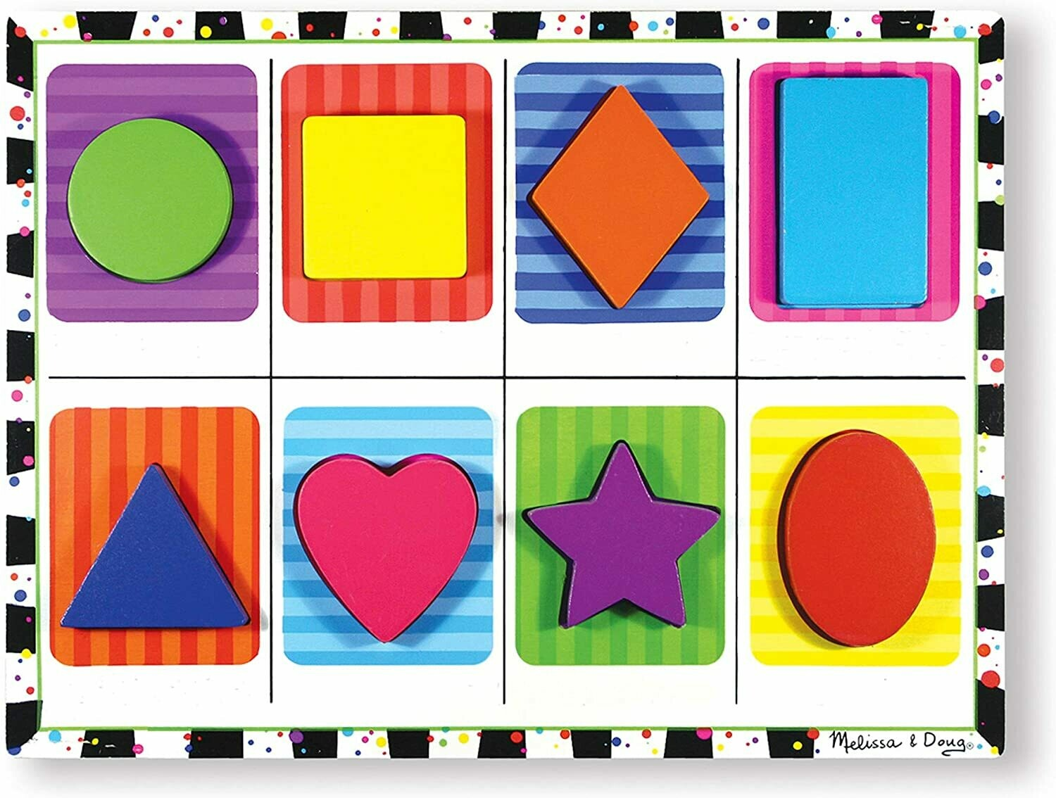 Melissa And Doug; Shapes Chunky Puzzle