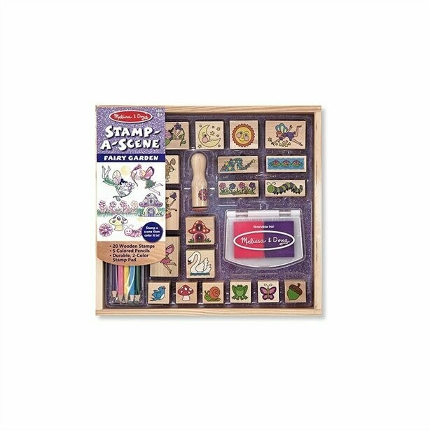 Melissa And Doug; Stamp-A-Scene-Fairy Garden