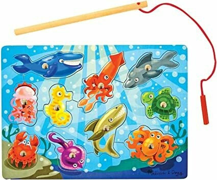 Melissa And Doug; Magnetic Wooden Game - Fishing