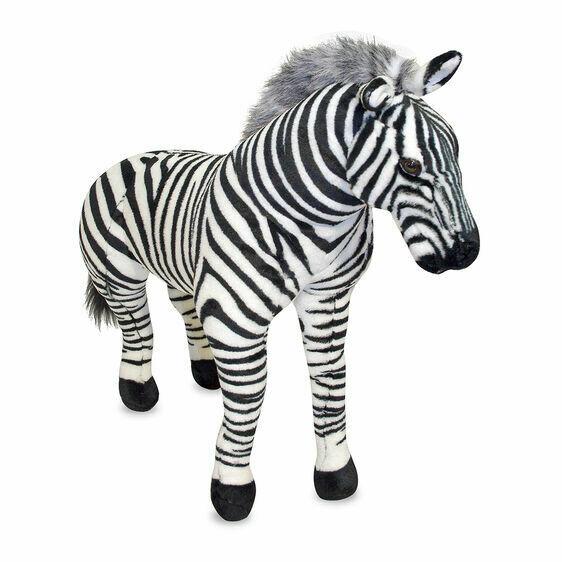 Melissa And Doug; Zebra - Plush