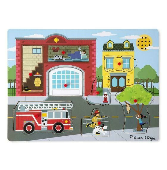 Melissa And Doug; Sound Puzzle, Around The Fire Station
