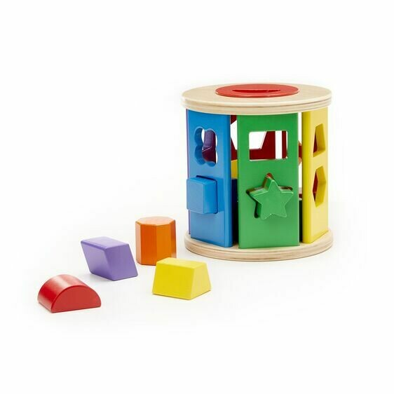 Melissa And Doug; Match & Roll Shape Sorter