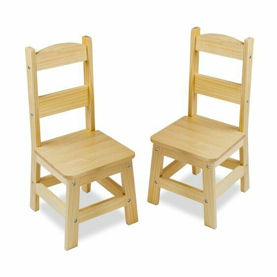 Melissa And Doug; Wooden Chair Pair