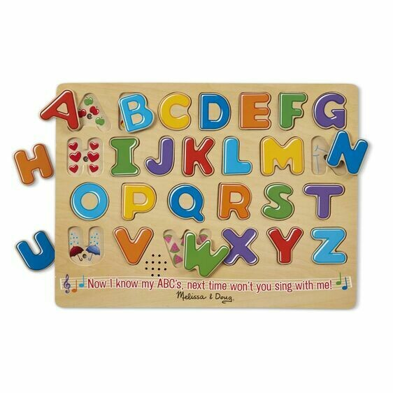 Melissa And Doug; Sound Puzzle Alphabet