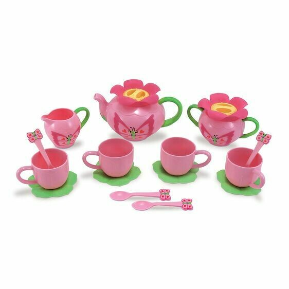 Melissa And Doug; Butterfly Tea Set
