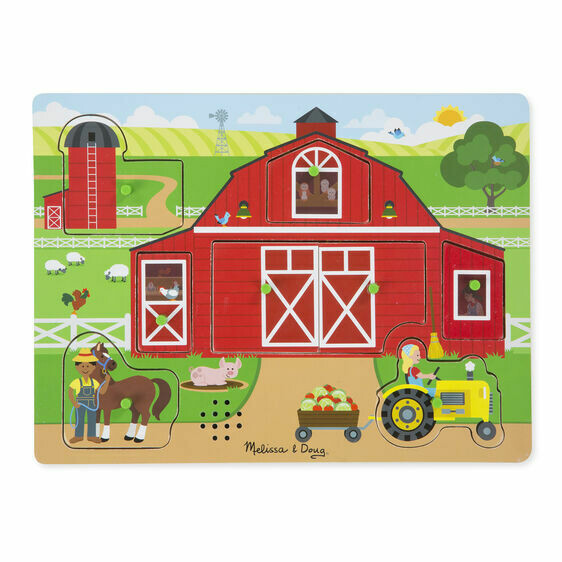 Melissa And Doug; Around The Farm Sound Puzzle