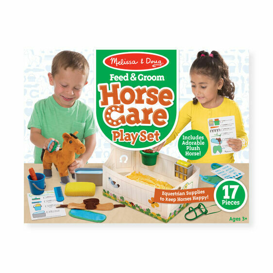 Melissa And Doug; Feed And Groom Horse Care Play Set