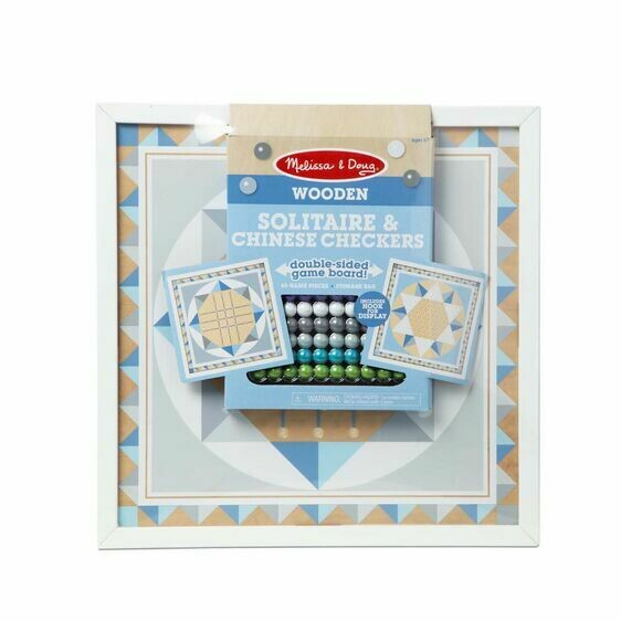 Melissa And Doug; Wooden Solitaire & Chinese Checkers