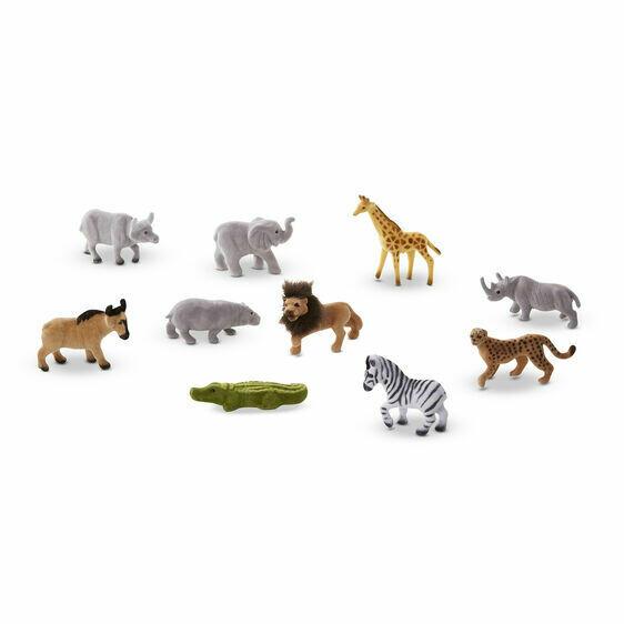 Melissa And Doug; Safari Sidekicks - 10 Collectible Wild Animals