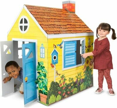 Melissa And Doug; Cardboard Structure - Cottage