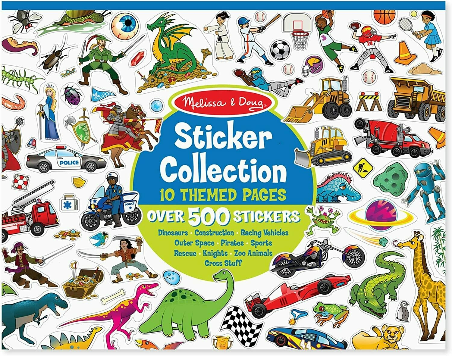 Melissa And Doug; Sticker Collection - Blue