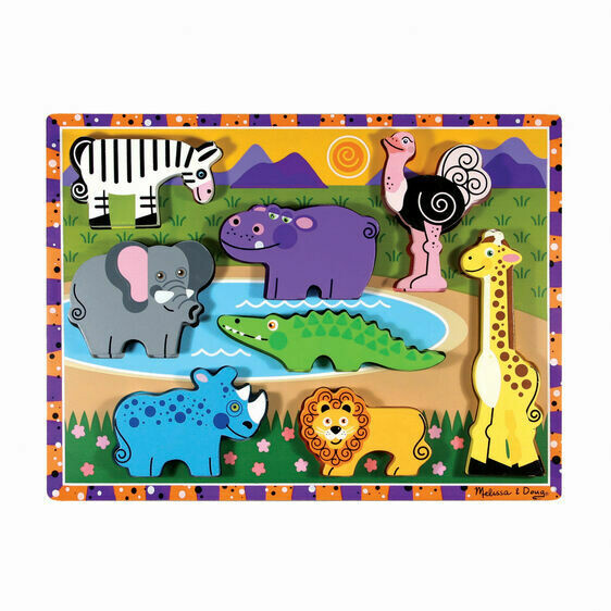 Melissa And Doug; Safari Chunky Puzzle