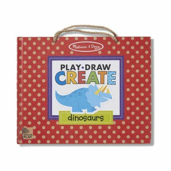 Melissa And Doug; Play, Draw, Create - Dinosaurs