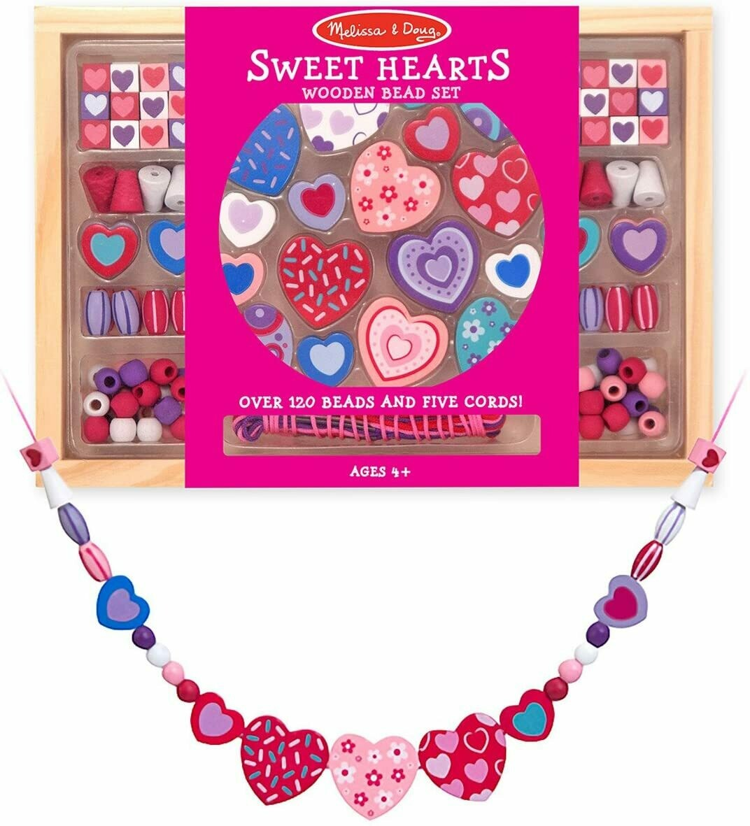Melissa And Doug; Sweet Hearts Bead Set