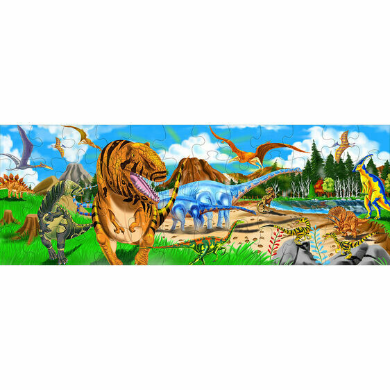 Melissa And Doug; Land Of Dinosaurs Floor Puzzle