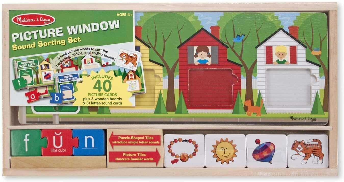 Melissa And Doug; Picture Window Sound Sorting Set