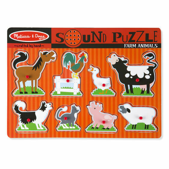 Melissa And Doug; Farm Animals Sound Puzzle