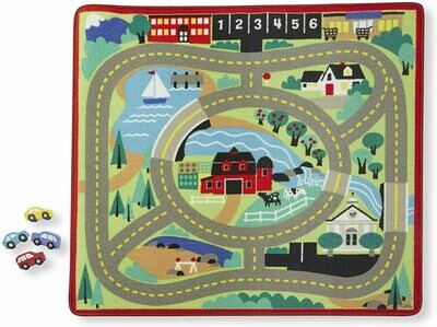 Melissa And Doug; Around The Town Road Rug