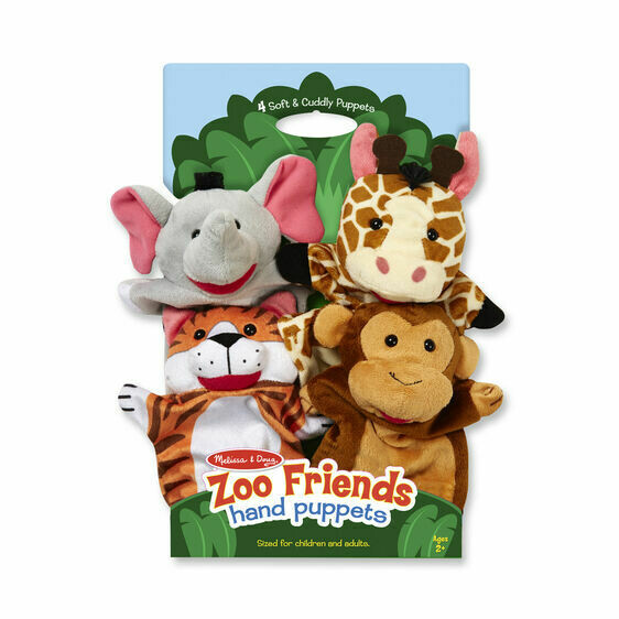 Melissa And Doug; Zoo Friends Hand Puppets