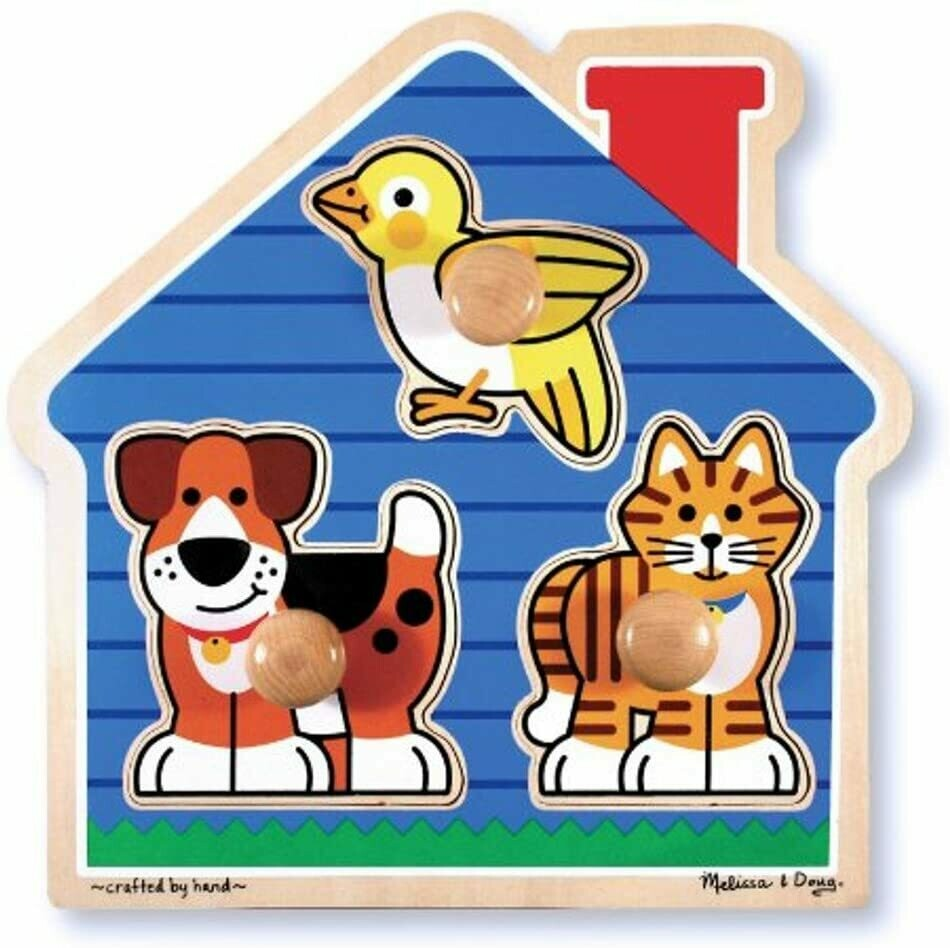 Melissa And Doug; House Pets Large Peg Puzzle