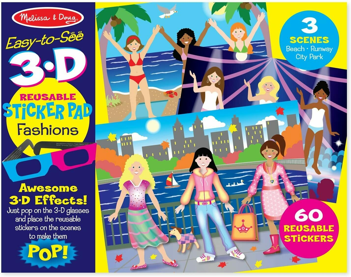 Melissa And Doug; 3D Reusable Sticker Pad - Fashions