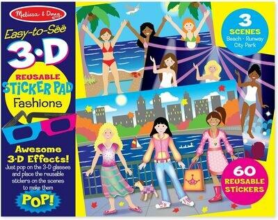 Melissa And Doug; 3D Reusable Sticker Pad - Fashions