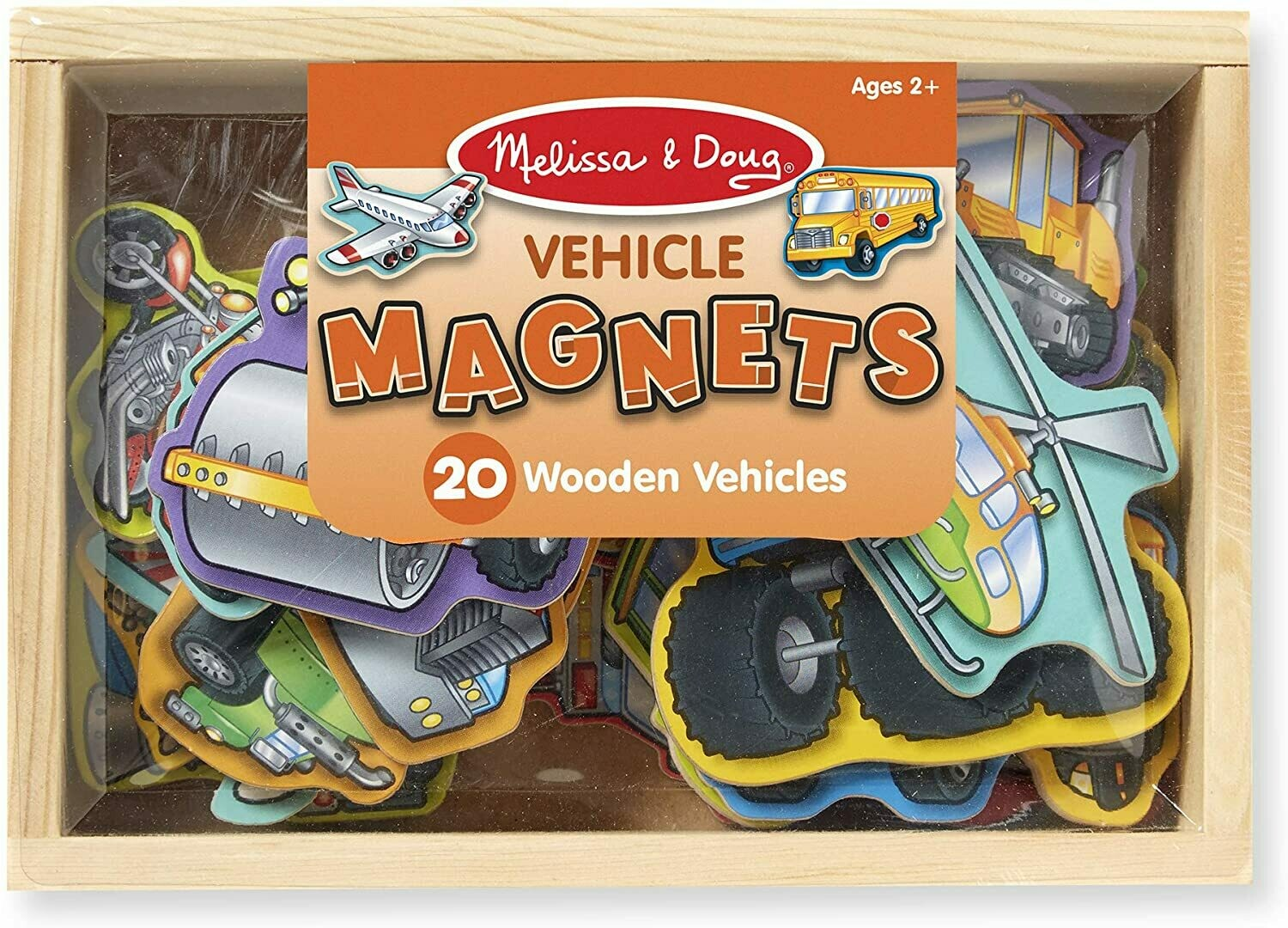 Melissa And Doug; Wooden Vehicle Magnets