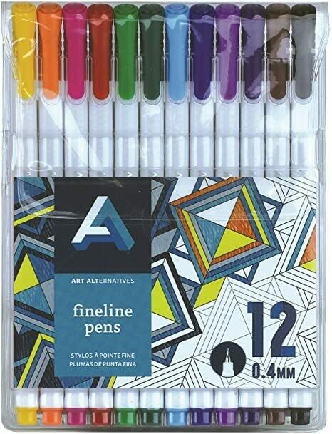 Art Alternatives; Fineline Pen Sets, 12-Color Set