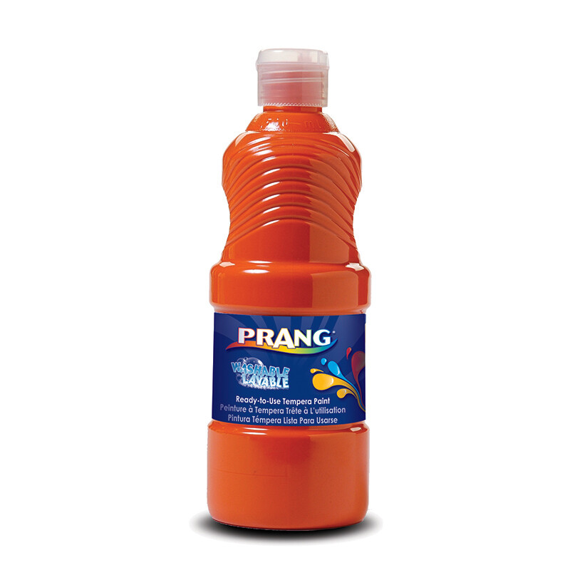 Prang; Washable Paint Orange 16Oz