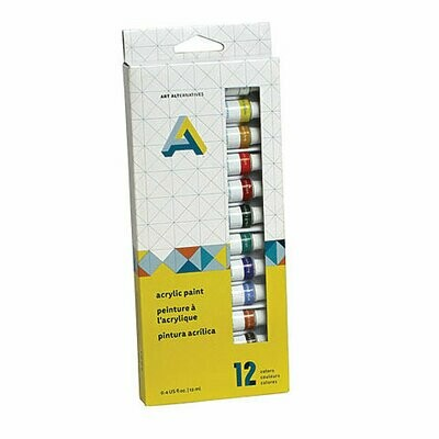 Art Alternatives; Acrylic Paint Set 12X12Ml Acrylic Paint 12-Color Tube Set, 12 ml Tubes