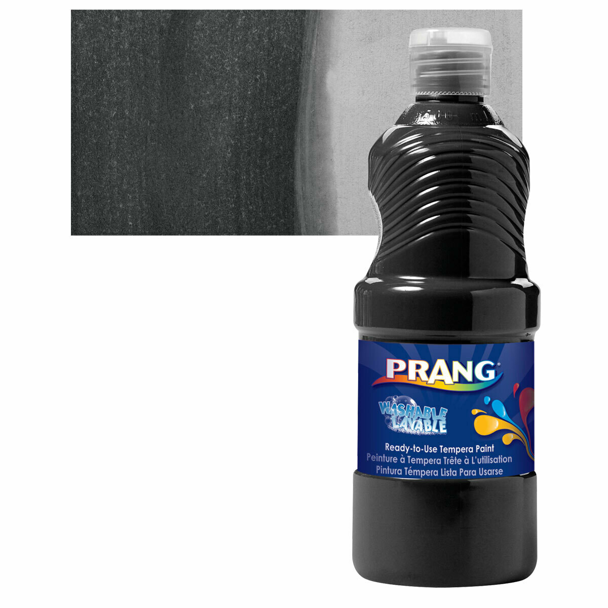 Prang; Tempera Washable Paint Black 16Oz