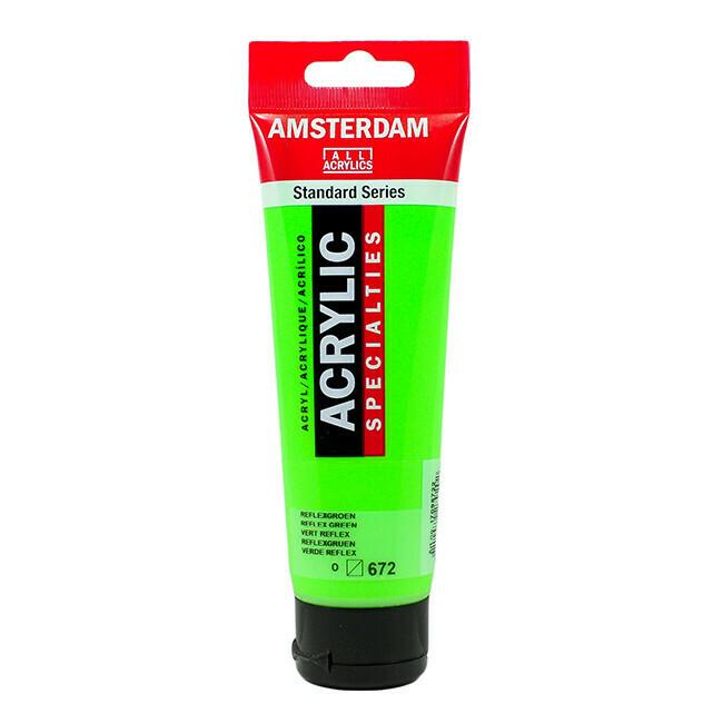 Amsterdam; Standard Acrylics, 120Ml Tubes, Reflex Green