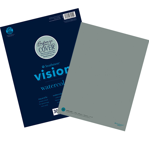 "Strathmore; Vision Watercolor Paper Pads, 9"" X 12"" - 30/Sht. Glue Bound"