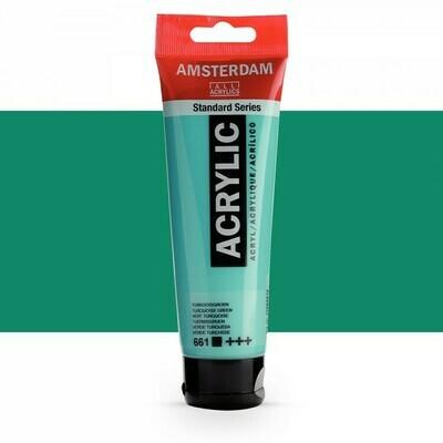 Amsterdam; Standard Acrylics, 120Ml Tubes, Turquoise Green